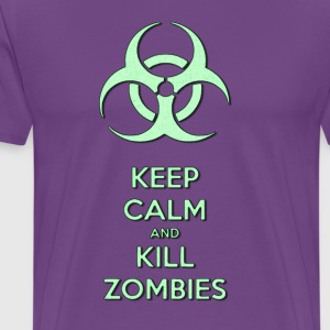 Keep calm and kill zombies, zombie light green - Men's Premium T-Shirt