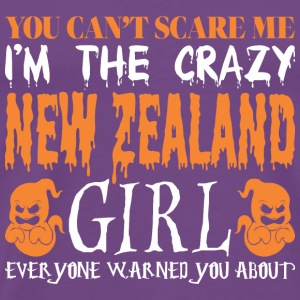 You Cant Scare Me Crazy New Zealand Girl Halloween - Men's Premium T-Shirt