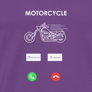 MOTORCYCLE BIKE CALL SCREEN SMARTPHONE TOUCHSCREEN - Men's Premium T-Shirt