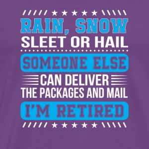 Retired Postal Worker Deliver Packages Mail - Men's Premium T-Shirt