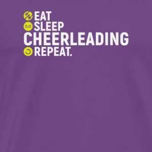 Eat, sleep, cheerleading, repeat - gift - Men's Premium T-Shirt