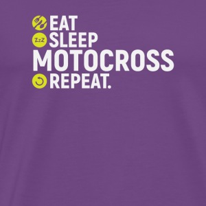 Eat, sleep, motocross, repeat - gift - Men's Premium T-Shirt