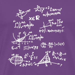 Funny Mathematics Formulas School Board T-Shirt - Men's Premium T-Shirt