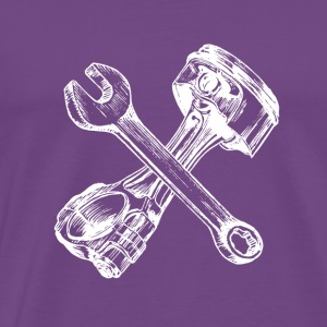 piston crossed - Men's Premium T-Shirt