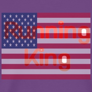 American Flag Running King Shirt - Men's Premium T-Shirt