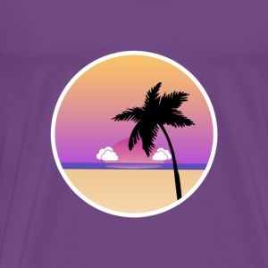 LA flat design - Men's Premium T-Shirt