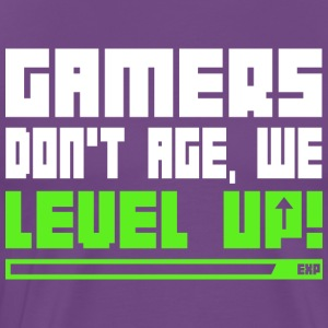 Gamers Don t Age We Level Up T Shirt - Men's Premium T-Shirt