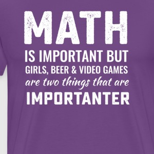 Funny math geek tee - Men's Premium T-Shirt