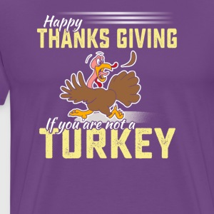 Funny happy thanksgiving turkey tshirt - Men's Premium T-Shirt