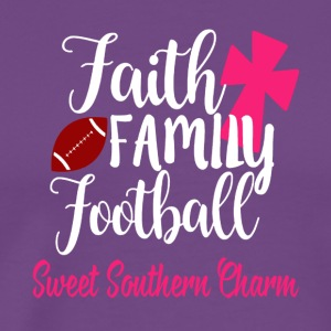 Faith Family Football sweet southern charm shirts - Men's Premium T-Shirt