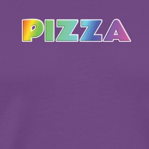 rainbow pizza text - Men's Premium T-Shirt