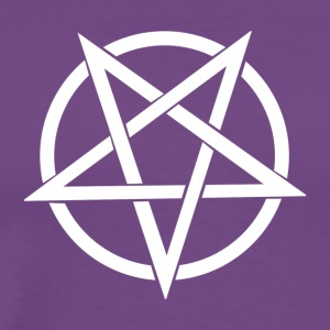 Pentagram, distressed, Satan - Men's Premium T-Shirt