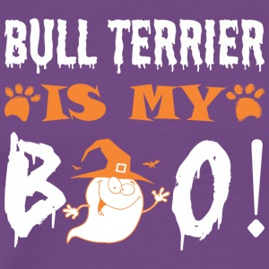 Bull Terrier Is My Boo Happy Halloween - Men's Premium T-Shirt