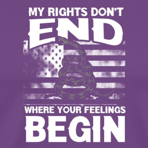 rights dont end - Men's Premium T-Shirt