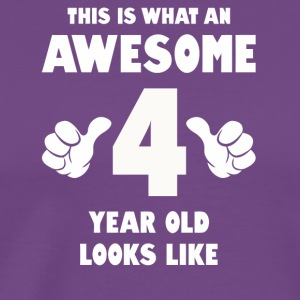 This is what an awesome 4 year old looks like - Men's Premium T-Shirt