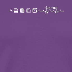 Rad Tech Heartbeat Shirt - Men's Premium T-Shirt