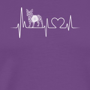 french bulldog heartbeat shirt - Men's Premium T-Shirt