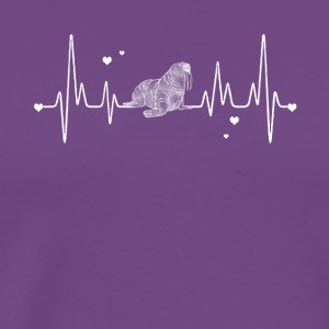 walrus heart shirt - Men's Premium T-Shirt