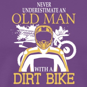 Old Man With A Dirt Bike T Shirt - Men's Premium T-Shirt