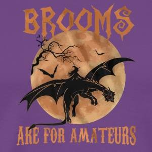 Brooms are for Amateurs halloween shirt - Men's Premium T-Shirt