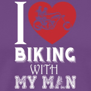 I Love Biking with My Man T Shirt - Men's Premium T-Shirt