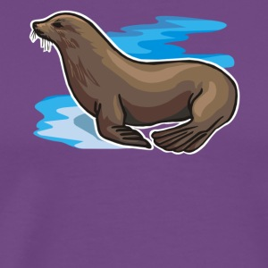 Sea Lion Tee & Hoodie - Men's Premium T-Shirt