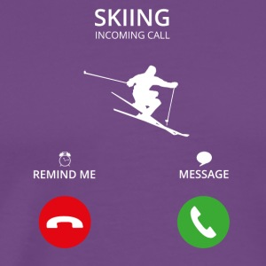 Call Mobile Anruf skiing ski - Men's Premium T-Shirt