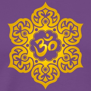 Yellow Lotus Flower Yoga Om - Men's Premium T-Shirt