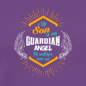 My Son is my Guardian Angel - He Watches over Me - Men's Premium T-Shirt
