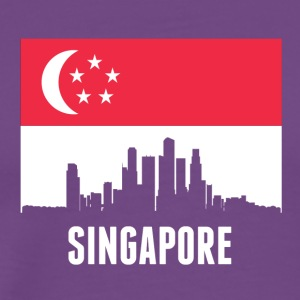 Singaporean Flag Singapore Skyline - Men's Premium T-Shirt
