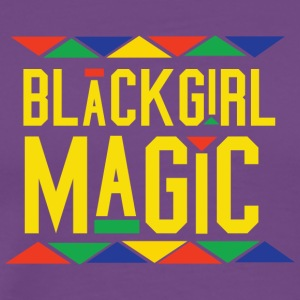 Black Girl Magic - Tribal Design (Yellow Letters) - Men's Premium T-Shirt