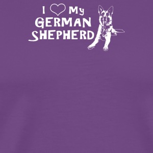 Love My German Shepard - Men's Premium T-Shirt