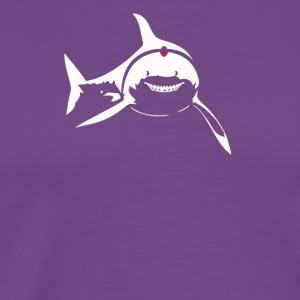 SHARKS WITH FRICKIN LASER BEAMS Soft Funny AUSTIN - Men's Premium T-Shirt
