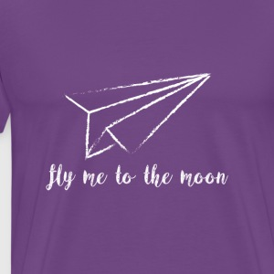 Fly Me To The Moon Couple Love Travel Shirt - Men's Premium T-Shirt