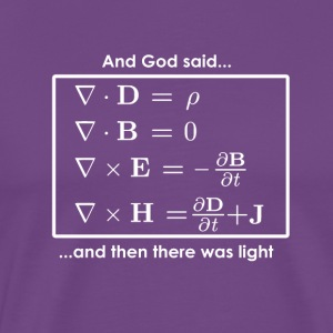 And God said (Math equation) ..and then there was