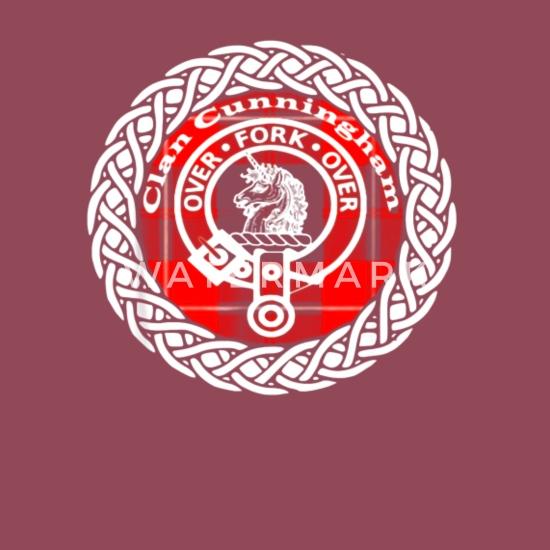 Cunningham surname Scottish clan tartan crest badge t-shirt