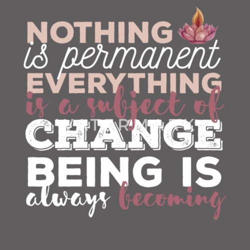 Buddhist Quotes Nothing Is Permanent Everything Mens Premium T