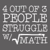 4 Out Of 3 People Struggle With Math T Shirt - Men's Premium T-Shirt