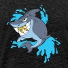 Splash Gang Shark - SG Gold Teeth - Men's Premium T-Shirt