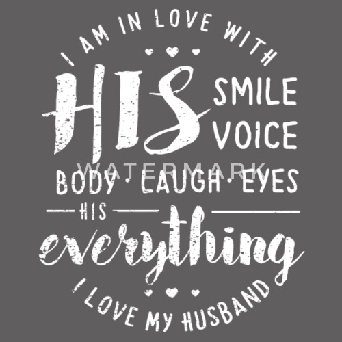 I Love My Husband T Shirt Mens Premium T Shirt Spreadshirt