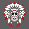 white_red_plumage_american_indian_colored - Men's Premium T-Shirt