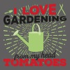 I love gardening from my head tomatoes (dark) - Men's Premium T-Shirt