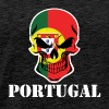 Portuguese Flag Skull Portugal - Men's Premium T-Shirt