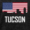 Tucson Arizona Skyline American Flag - Men's Premium T-Shirt