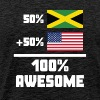 50% Jamaican 50% American 100% Awesome Funny Flag - Men's Premium T-Shirt