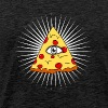 illuminati pizza all seeing eye conspiracy humor f - Men's Premium T-Shirt