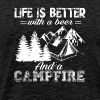 Funny Camping With A Beer Tshirt - Men's Premium T-Shirt