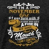 I'm a november girl I was born with my heart - Men's Premium T-Shirt