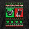 Boston Terrier Ugly Christmas Sweater - Men's Premium T-Shirt