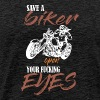 Save A Biker Open Your Fucking Eyes - Men's Premium T-Shirt